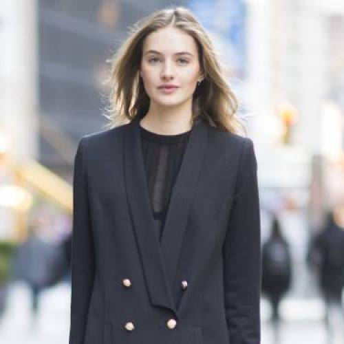 A VS Model Told Us Her Go-To Airport Outfit (and It's Genius)